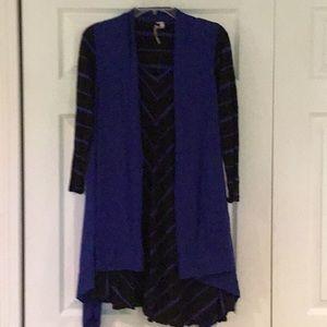 Comfy USA long sleeve tunic and vest set